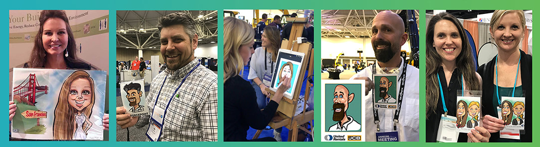 , Digital caricatures for Trade Shows in Minneapolis,  Caricature artist northern wisconsin