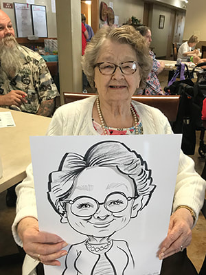 Osseo Gardens Assisted Living Center, nursing home events, love caricatures , talented ,fast flattering  affordable, best, professional, experienced, wisconsin, hayward, spooner